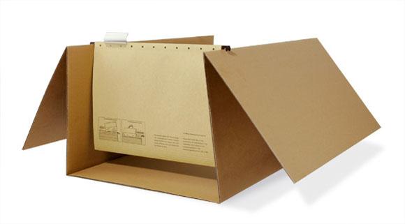 Hängeregister-Einrichtung für Umzugskarton S3